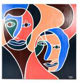 MODERN ABSTRACT FIGURATIVE OIL ON CANVAS