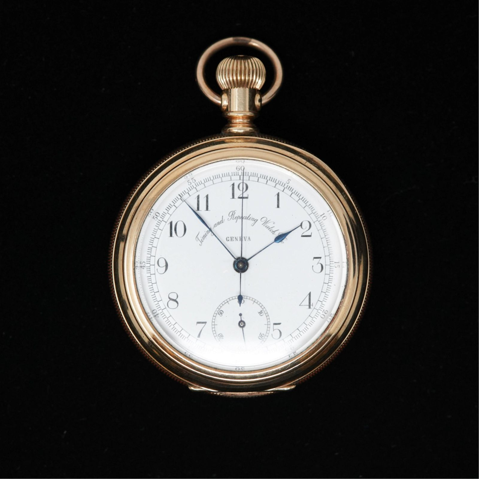 14K GOLD TIMING & REPEATING WATCH CO. POCKET WATCH