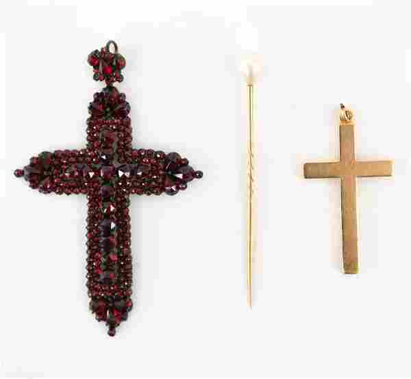 ANTIQUE JEWELRY GROUPING INCL. CROSSES