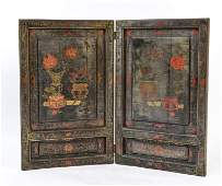 ASIAN STYLE PAINTED SMALL ROOM DIVIDER SCREEN