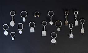 GROUPING OF STERLING SILVER KEY CHAINS