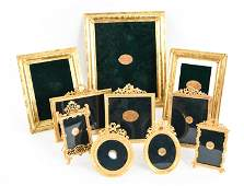 GROUPING OF GOLD PLATED PICTURE FRAMES