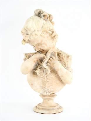 EMILIO FIASCHI, ITALIAN (1858-1941) MARBLE BUST