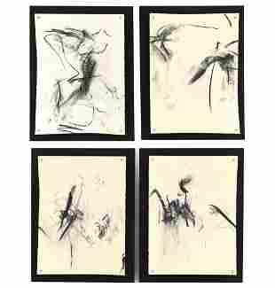 (4) E. BUECHEL ABSTRACT ART WORKS