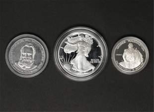 (3) SILVER BUILLON COINS