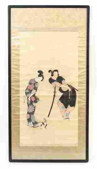 20TH C. JAPANESE SCROLL PAINTING