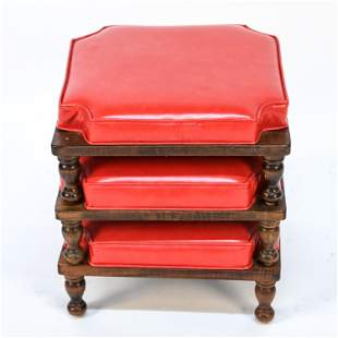 VINTAGE ETHAN ALLEN STACKING FOOT STOOLS
