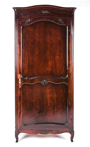 FRENCH PROVINCIAL STYLE LINEN PRESS ARMOIRE CAB