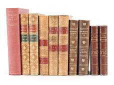 (10) BOOKS INCL. ANTIQUE LEATHER BOUND