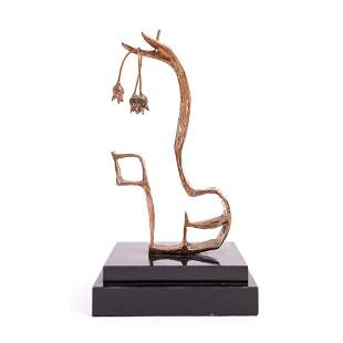 S. ZWANG ABSTRACT BRONZE SCULPTURE