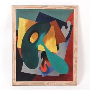 KARL GASSLANDER ILLNOIS (1905-1997) ABSTRACT O/B