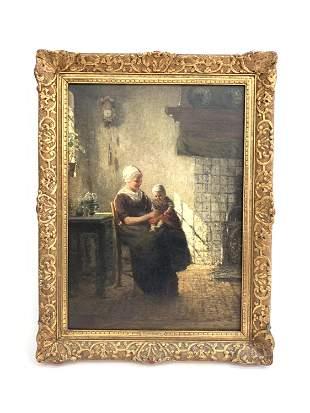 JOHNNES JACOBUS PALING, DUTCH (1844-1892) O/C