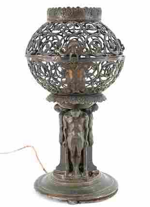 OSCAR BACH WHITE METAL LAMP