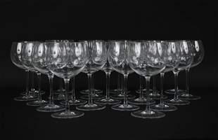 (23) TIFFANY & CO. CRYSTAL WINE GLASSES