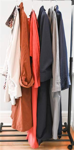 GROUPING OF TRENCH COATS & JACKETS