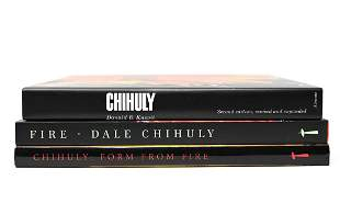 GROUP (3) ART BOOKS ON DALE CHIHULY