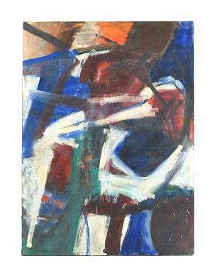 OVERSIZED ABSTRACT EXPRESSIONIST PAINTING C. 1950S