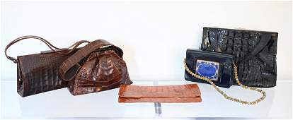 GROUPING OF (5) FINE VINTAGE BAGS INCL. KORET