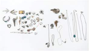 VINTAGE STERLING SILVER JEWELRY GROUPING