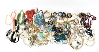 LARGE GROUPING OF CONTEMPORARY COSTUME JEWELRY