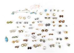 GROUPING OF COSTUME JEWELRY CLIP ON EARRINGS