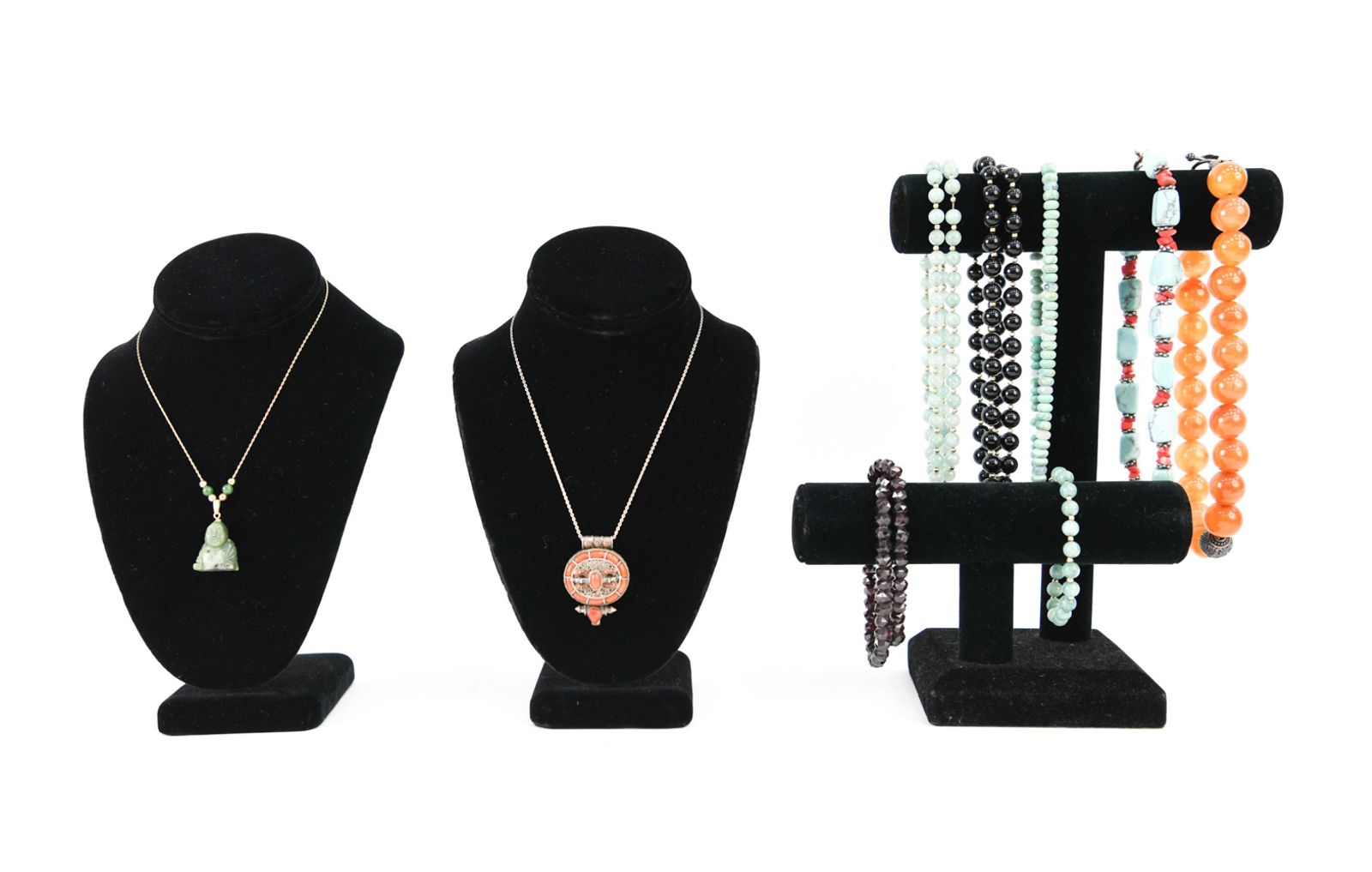 GROUPING OF JEWELRY INCL. 14K GOLD & SILVER