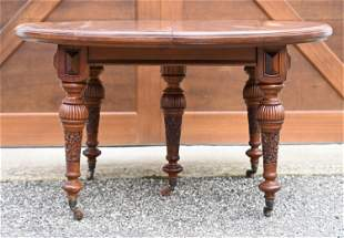 ANGLO INDIAN CARVED DINING TABLE