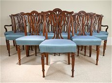 (12) ANGLO-INDIAN MAHOGANY DINING CHAIRS
