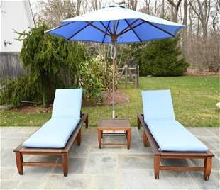 KINGSLEY BATE OUTDOOR CHAISE LOUNGE GROUPING