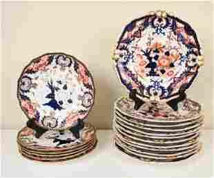 (18) ANTIQUE ROYAL CROWN DERBY IMARI PLATES