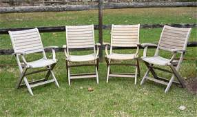 (4) OUTDOOR CLASSICS FOLDING CHAIRS