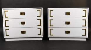 PAIR OF VINTAGE CAMPAIGN-STYLE DRESSERS