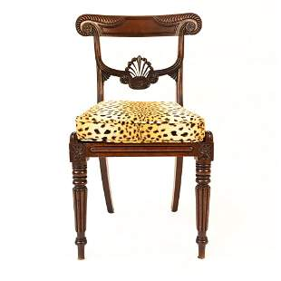 REGENCY STYLE CANED SIDE CHAIR