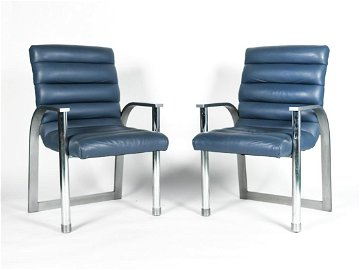 PAIR JAY SPECTRE ECLIPSE DINING ARMCHAIRS