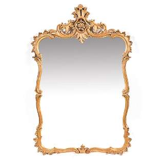 LARGE ORNATE GILT WALL MIRROR