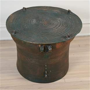 CONTEMPORARY SOUTHEAST ASIAN RAIN DRUM STYLE TABLE