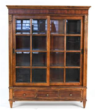 ETHAN ALLEN GLASS FRONT BOOKCASE