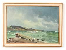 LEO CH. MOLLER DANISH OIL ON CANVAS