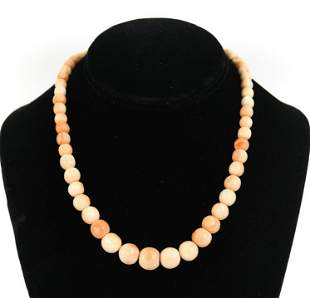 HAND-ROLLED CORAL & 14K GOLD NECKLACE