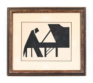 MODERN ABSTRACT PRINT OF A PIANO PLAYER