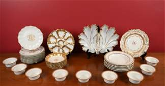 GROUPING OF LIMOGES PORCELAIN, ETC.