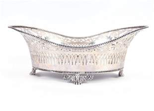 TIFFANY & CO. RETICULATED STERLING SILVER DISH
