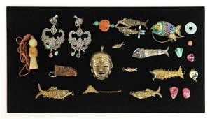 GROUPING OF VINTAGE JEWELRY INCL CHINESE