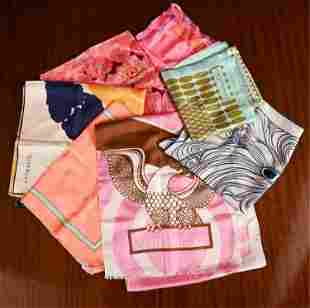 (7) DIOR, GIVENCHY & SANT'ANGELO SILK SCARVES