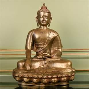BRASS SEATED BUDDHA