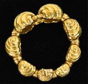 DAVID WEBB 18K GOLD BRACELET
