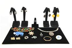 JEWELRY GROUPING INCL STERLING & VINTAGE