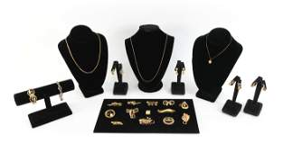 GROUPING OF VINTAGE YELLOW GOLD-FILLED JEWELRY