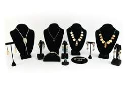 GROUPING OF STERLING JEWELRY INCL NATIVE AMERICAN