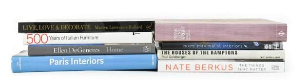 FURNITURE, ARCHITECTURE & INTERIOR DESIGN BOOKS
